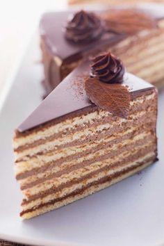 German Prinzregenten Torte ( Eight Layer Cake ) Re