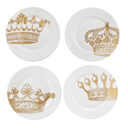 Charming Crown Dessert Plates.