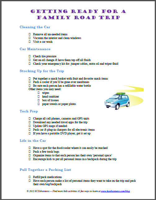 road trip budget template