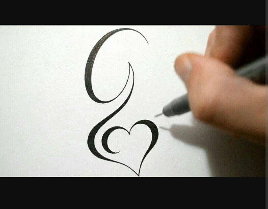 G letter G tattoo, Cursive tattoos
