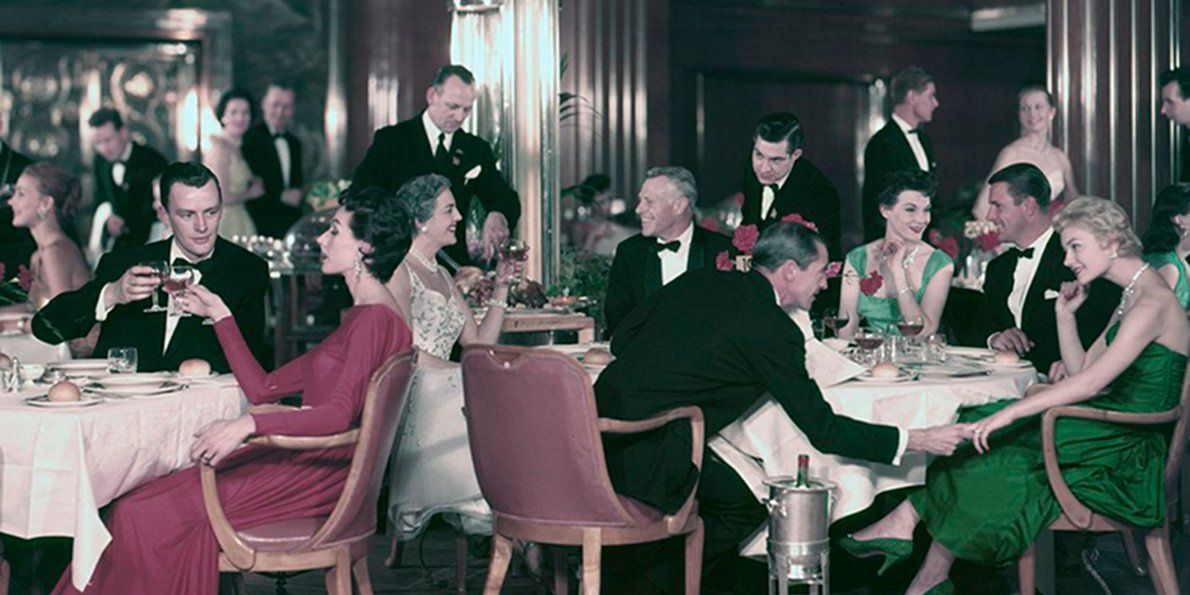 While cruise ships boast insane amenities now, back in the day they just had oodles of luxury and class.