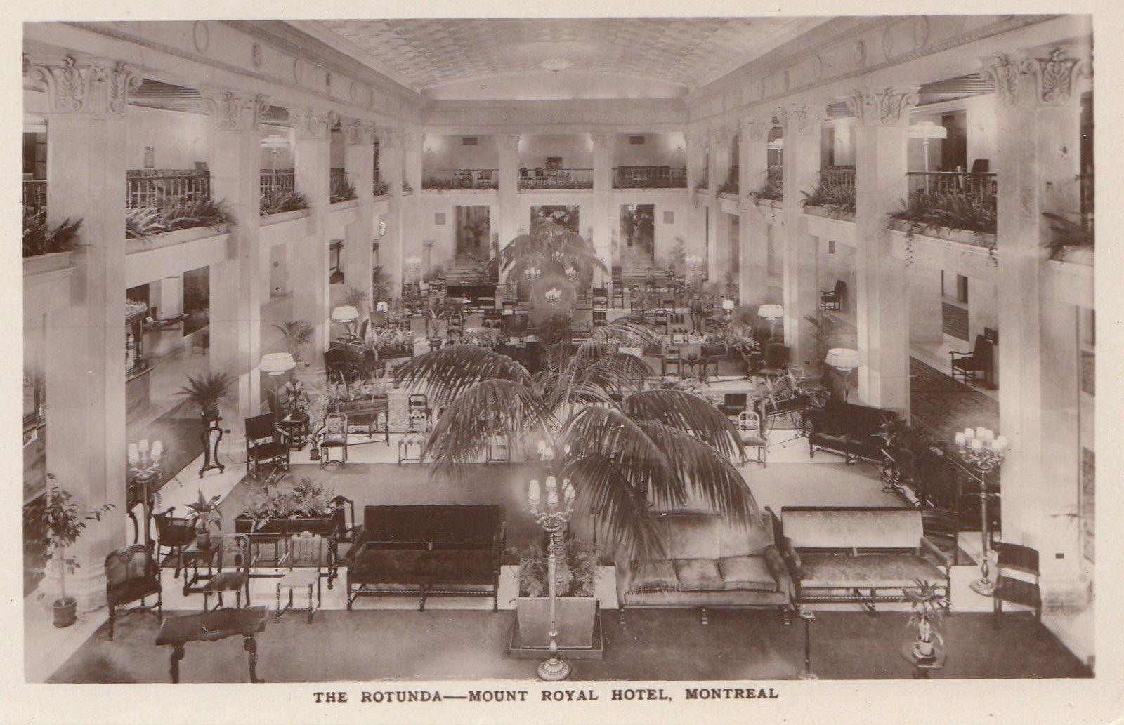 Rotunda Mont Royal Hotel Montreal Quebec 1920 30s International Fine Art Co Rppc Collectibles