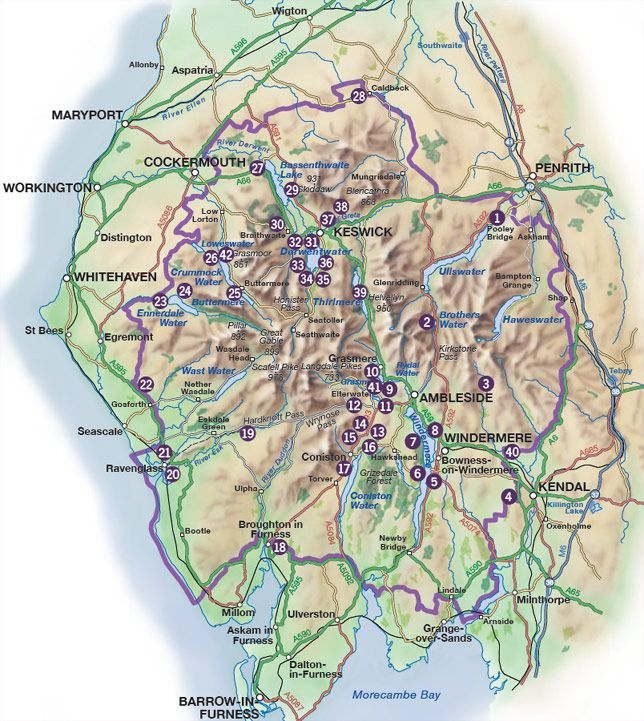 lake district hiking map Miles Without Stiles 27 Level Walks For Pushchairs And Disabled Lake District National Park Ma Lake District Lake District National Park National Parks Map lake district hiking map