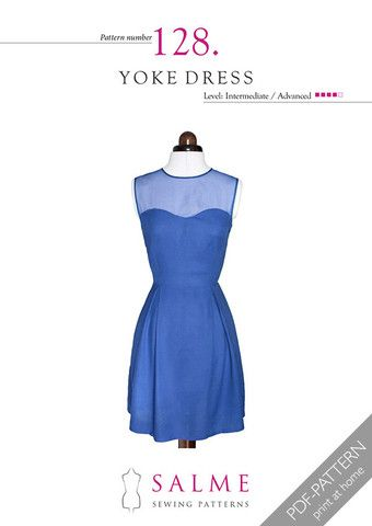 This sleeveless dress features a beautifully shaped yoke detail. The ...