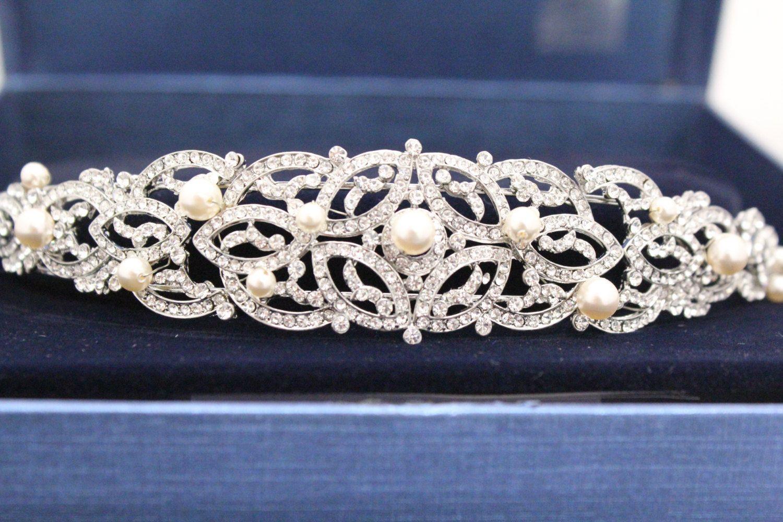 Wedding headband pearl wedding hair accessories bridal headband