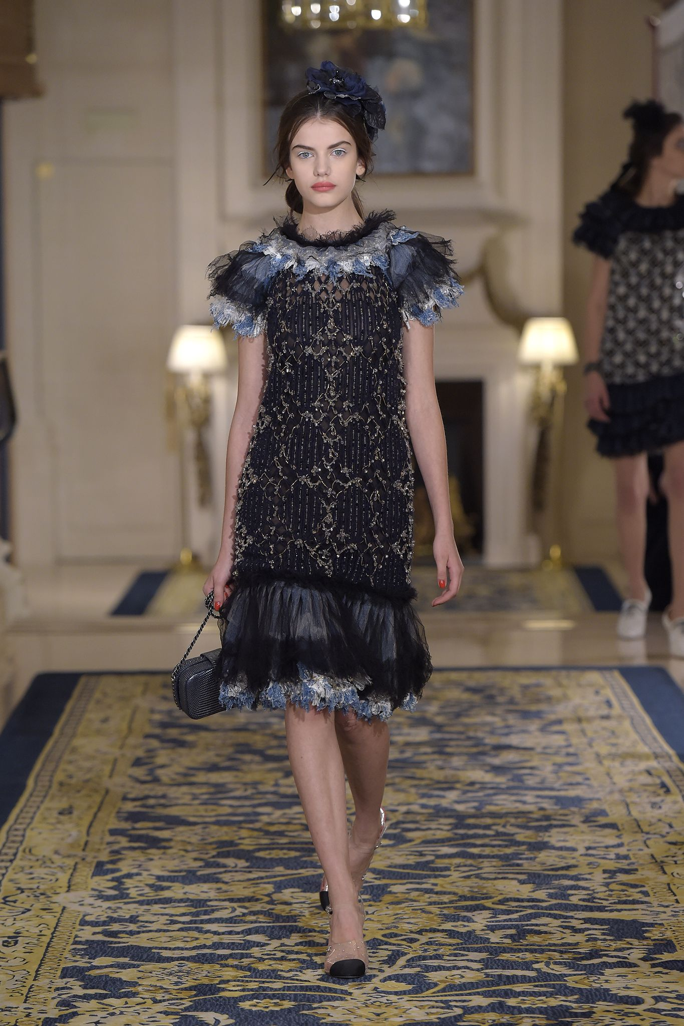Chanel Métiers d'Art show at the newly reopened Ritz Paris. Look 51