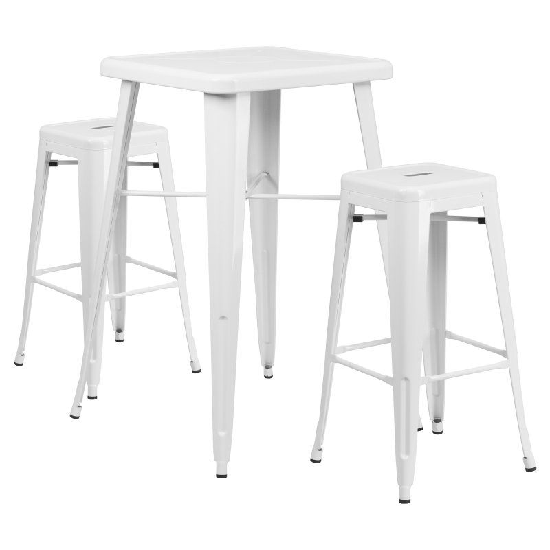 Outdoor Flash Furniture Mason 3 Piece Modern Pub Table Set - CH ...