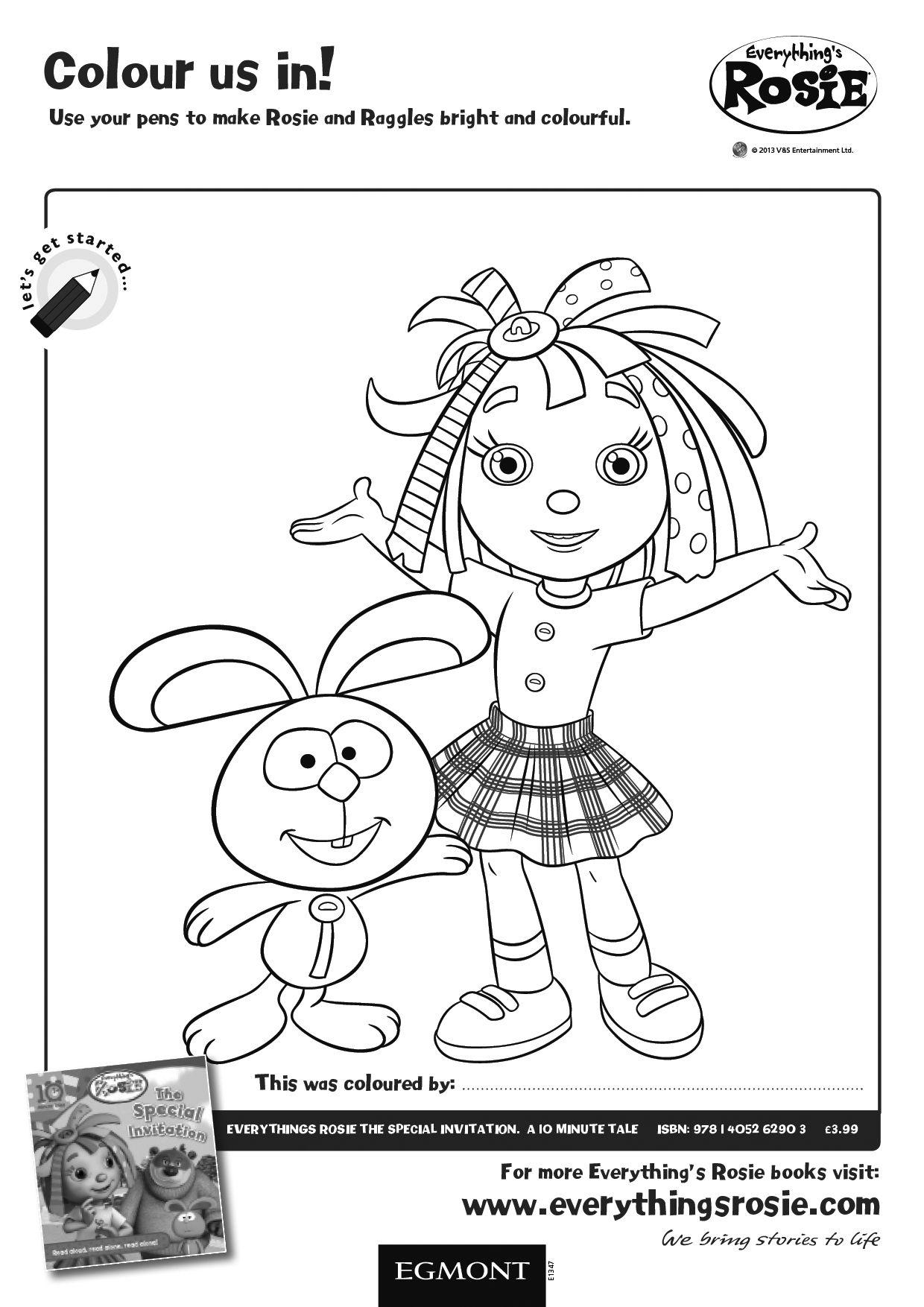 Feuerwehrmann Sam Jupiter Ausmalbilder : Everything S Rosie Colouring Activity Sheet For Children Have Fun