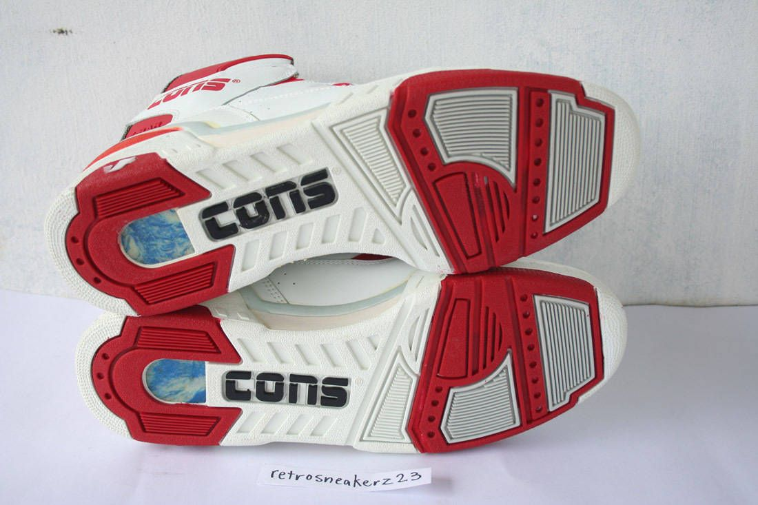 1987 DS Men's Converse Cons ERX 260 Hi Basketball 12 5 White