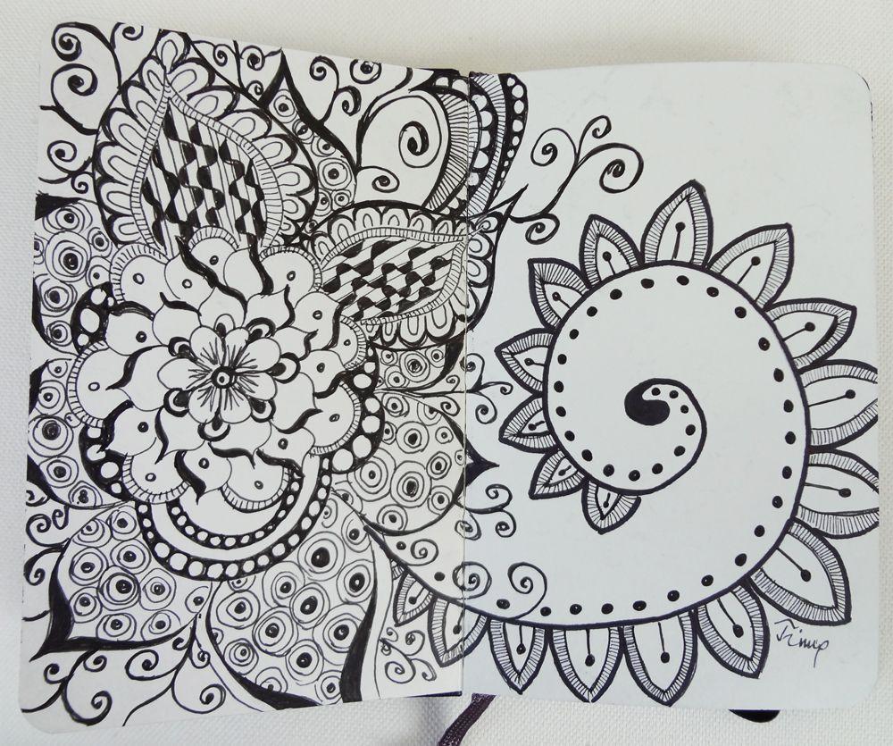 My Moleskine zentangle drawn with Sakura Micron   Sketchbook Chaos ...