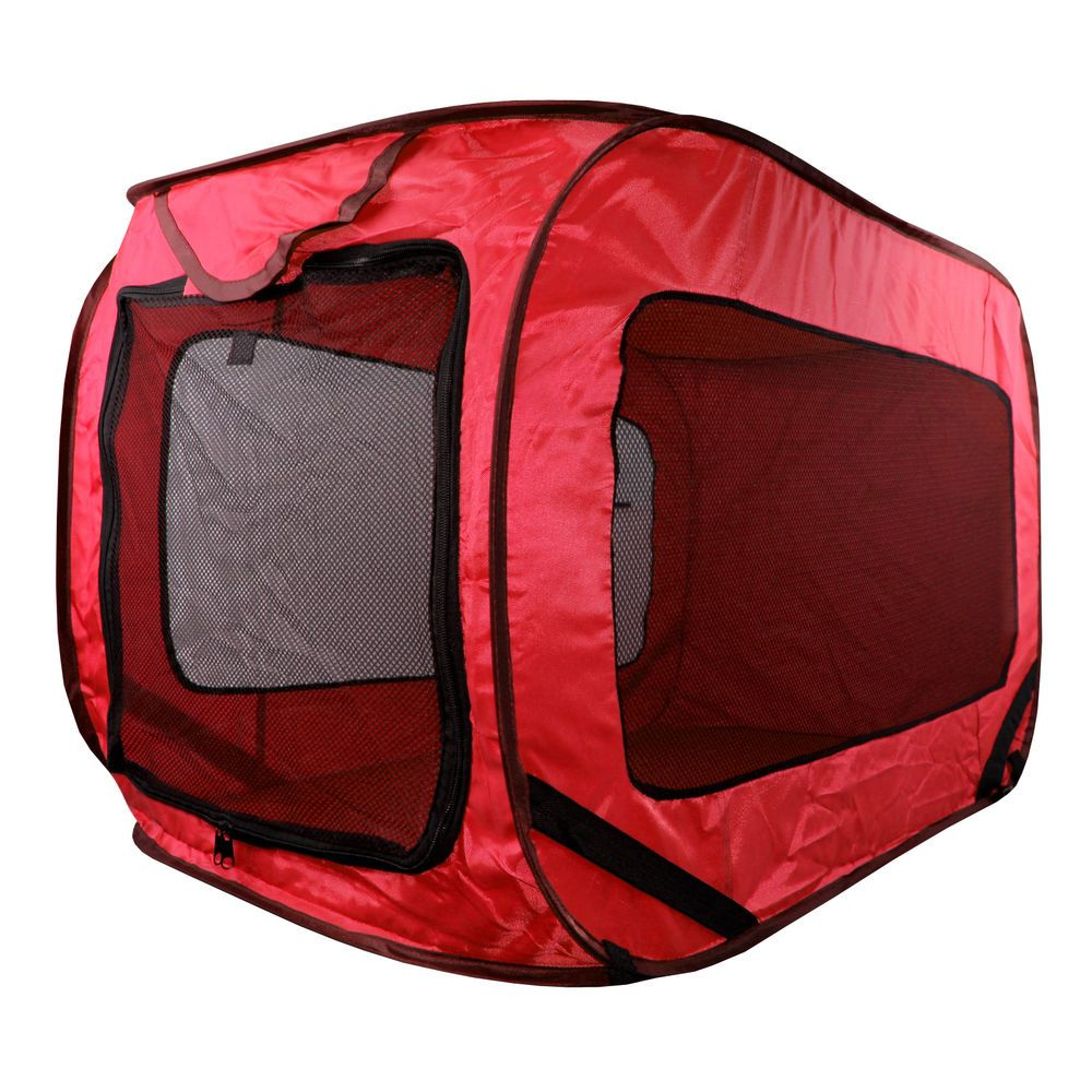 Kennel Dog Canvas Pop Up Travel Cage Run Light Weight Portable Red Mesh Puppy  sc 1 st  Pinterest & Kennel Dog Canvas Pop Up Travel Cage Run Light Weight Portable Red ...