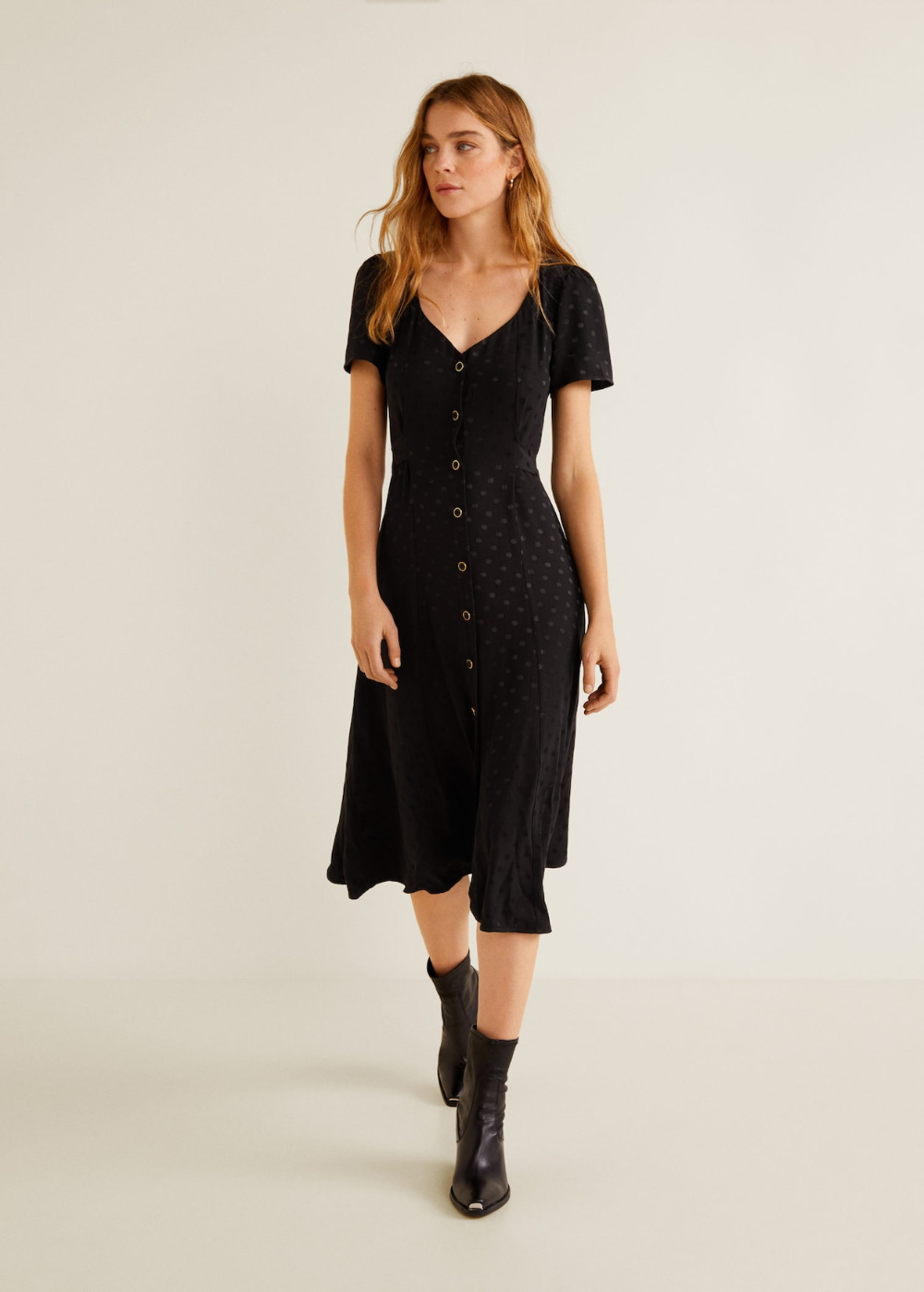 Jacquard-kleid mit polka dots - Damen in 11  Kleider für frauen