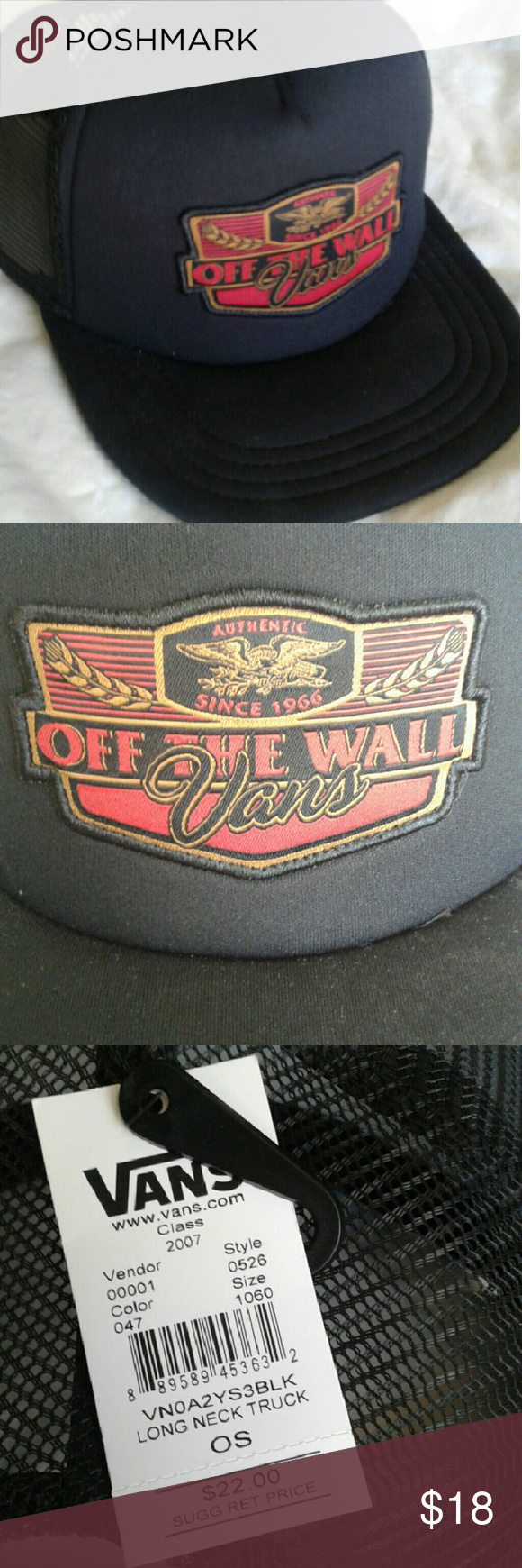 NWT Vans snap back hat Very cool, brand new hat from Vans! All black snap back hat is adjustable and features a patch that looks like a popular beer logo. Vans Accessories Hats