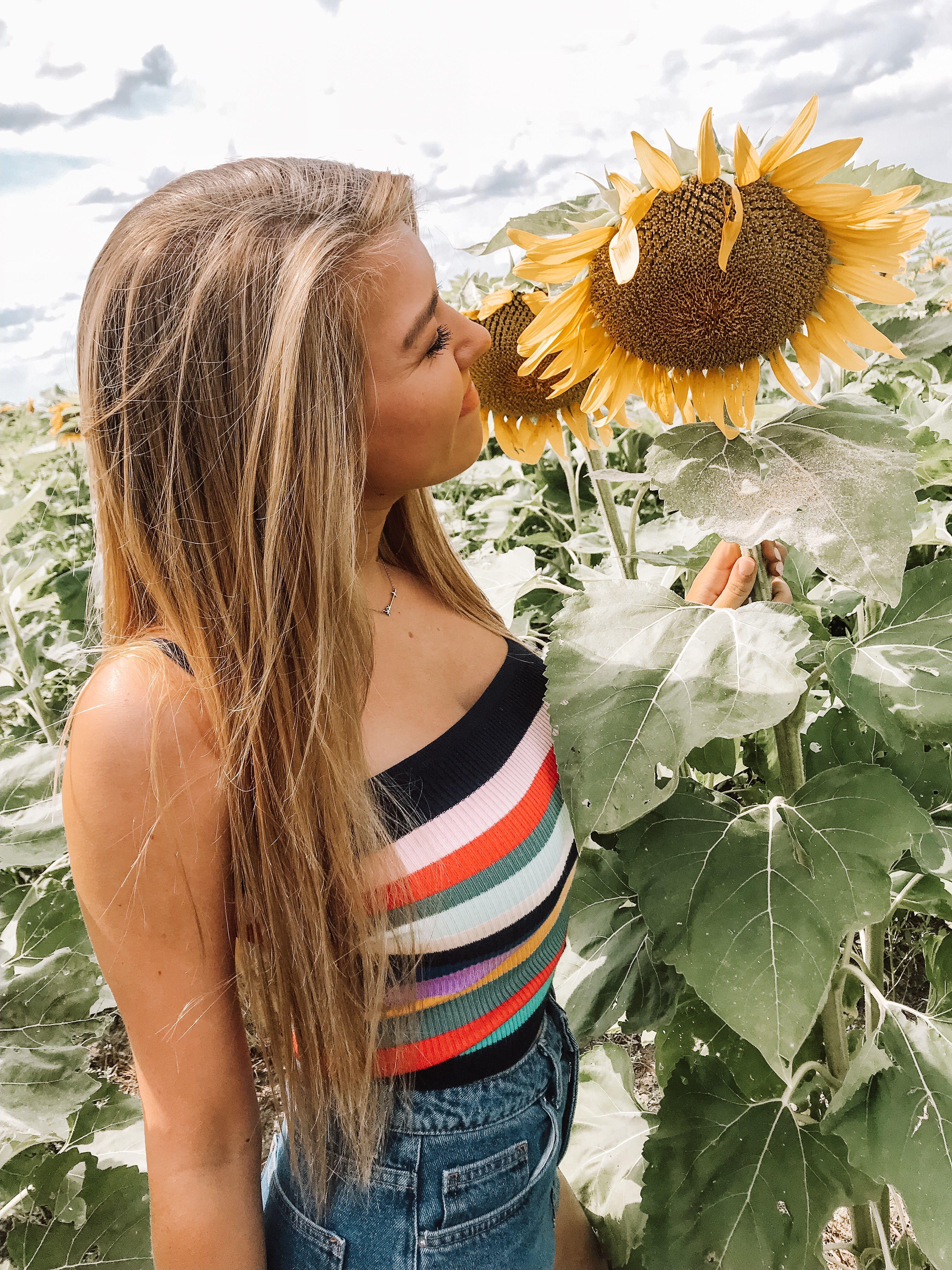 #sunflower #summerfashion   Sunflower field pictures ...