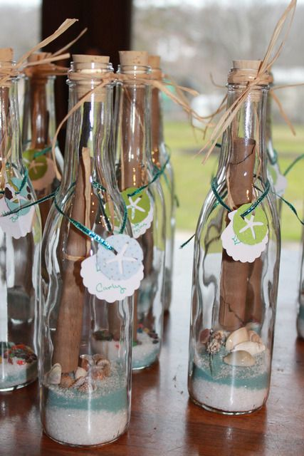 Message in a bottle invitations