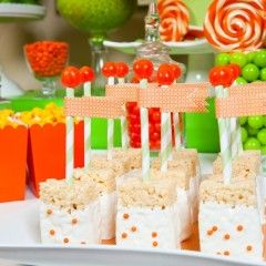 rice crispy treats for dessert table