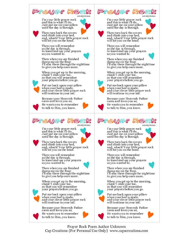 image about Prayer Rock Poem Printable known as Prayer Rock Poem Printable Key Prayer rocks, Prayer