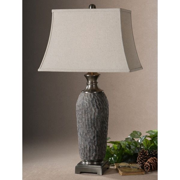 Gray Table Lamps Interesting Uttermost Tricarico Rectangle Bell Shade Dusty Grey Table Lamp 2018