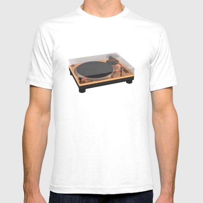Golden Turntable T-shirt #turntable #gold #technics1200 #cgi #cg #render #c4d #3d #rickardarvius #tshirt #cinema4d #fashion #society6 #society6store