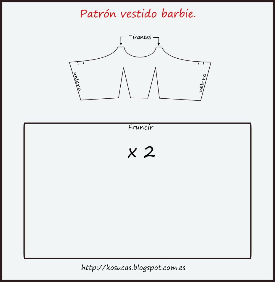 Vestido barbie | Costura | Pinterest | Vestidos, Patrones y Costura