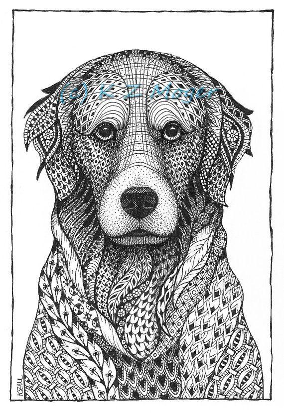Grandes retratos de perros de raza-enmarañado imprimir-seleccionar ...