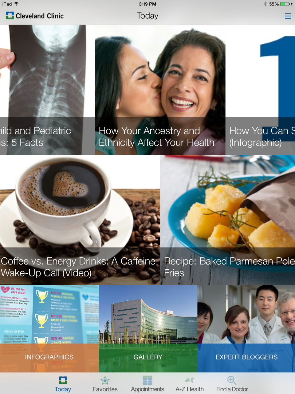 The Cleveland Clinic Today App is your daily interactive
