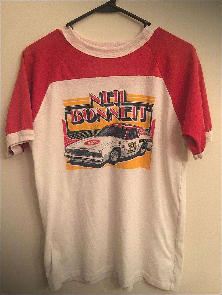 Vintage 80's Neil Bonnett NASCAR Hodgdon Racing Ringer Tee - Size Large by  JourneymanVintage on Etsy
