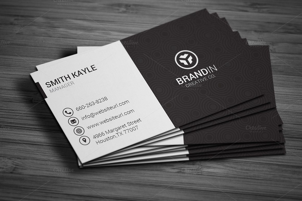 Simple black white business card business cards business and simple black white business card by made by arslan on creativemarket reheart Choice Image