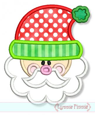 9a575b28af644 Embroidery Designs - Cute Santa Applique 4x4 5x7 6x10 7x11 - Welcome to  Lynnie Pinnie.com! Instant download and free applique machine embroidery  designs in ...