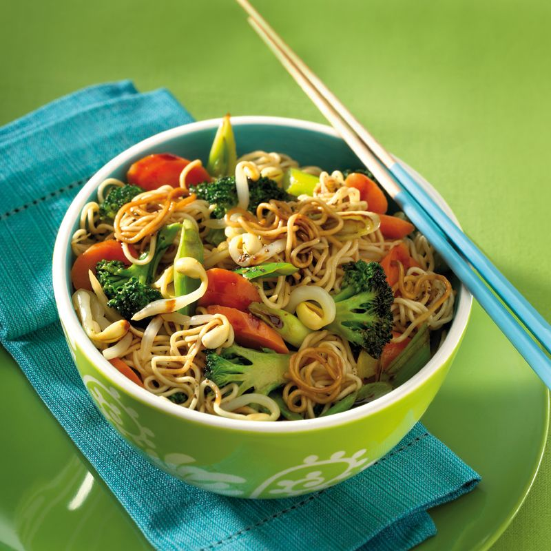 Photo of Chinese vegetable pan with fried noodles
