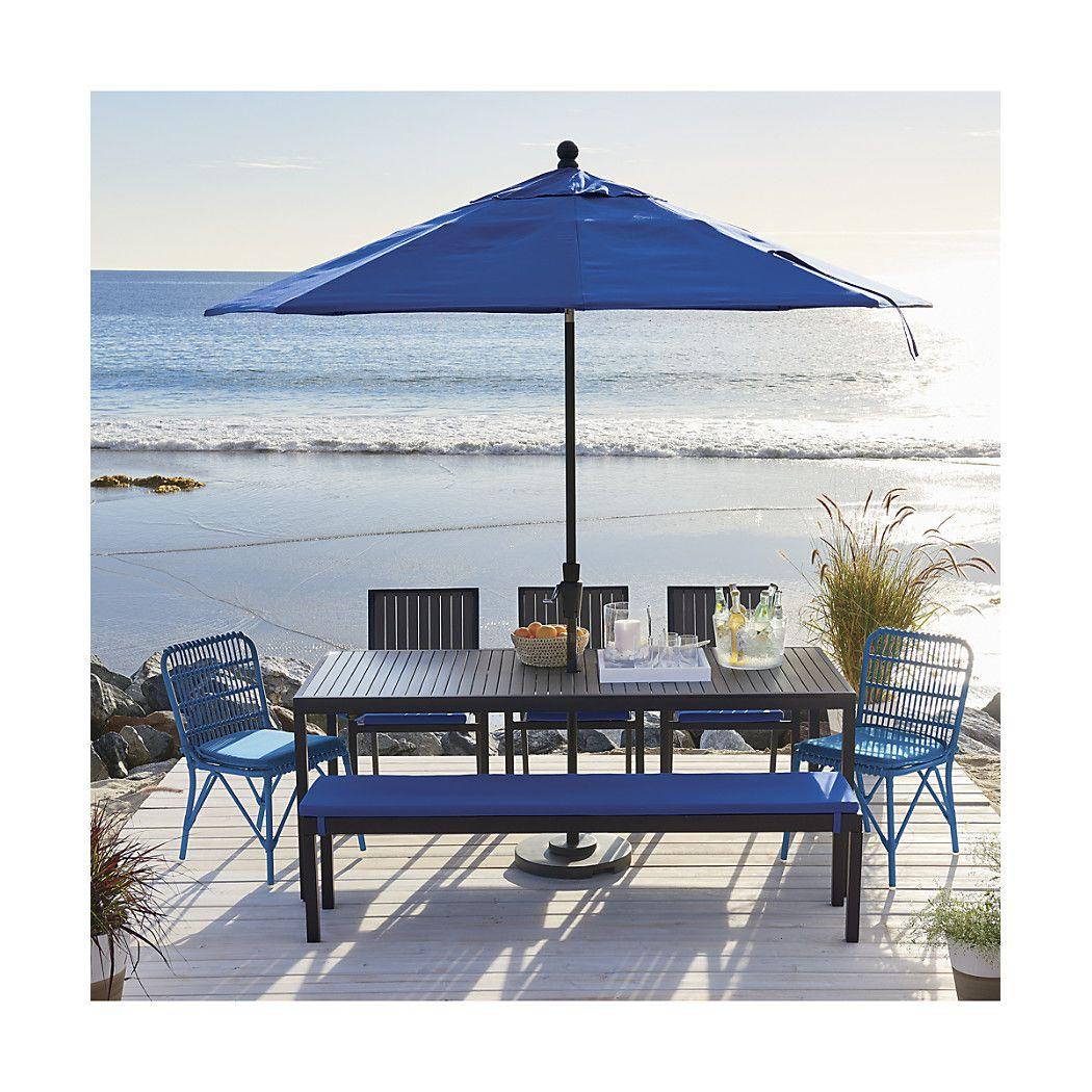 shop rectangular sunbrella a mediterranean blue patio umbrella with