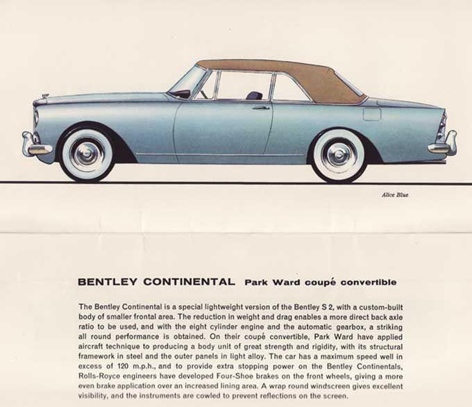 Bentley Mulsanne � Bentley Motors Bentley Fan On: 1955 Bentley Continental Park Ward Coupe Convertible