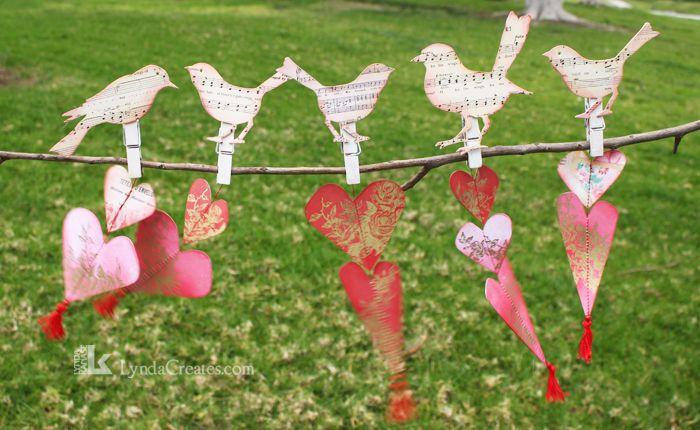 Valentine Birds on a Branch