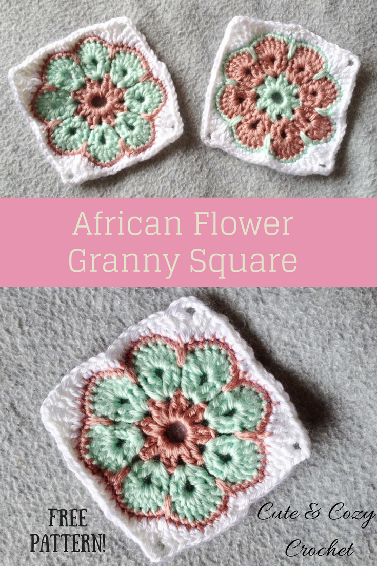 African Flower Granny Square | Pinterest | Flower granny square ...