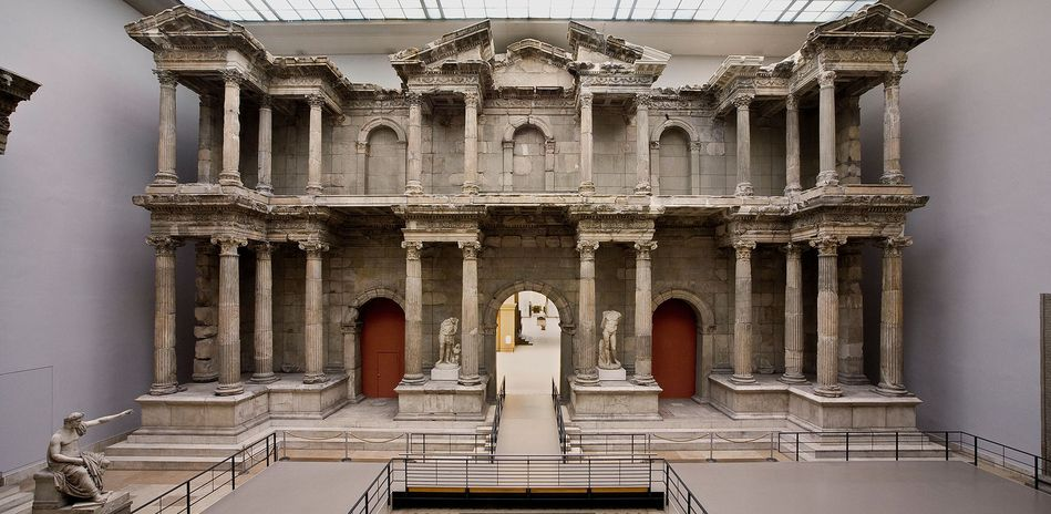 The Image Shows A Two Storey Market Gate With Columns From The Roman Time Museum Insel Museumsinsel Berlin Museum