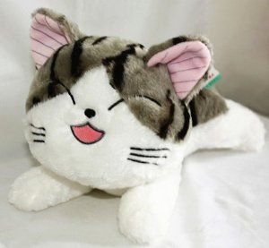 Chi's Sweet Home Cute Cat Plush Pillow Close Eyes 11""