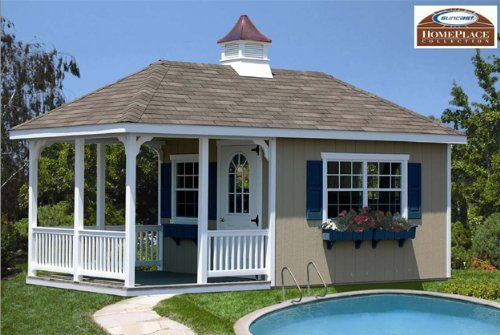 10 X 20 Tiny House Pool House Storage Building Kit With Floor Amazing Shed For Your Backyard Suncast H Pool House Shed Guest House Shed Pool Houses