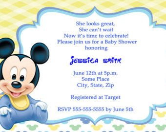 Mickey mouse baby shower invitations thank you cards invitations mickey mouse baby shower invitations thank you cards filmwisefo Image collections