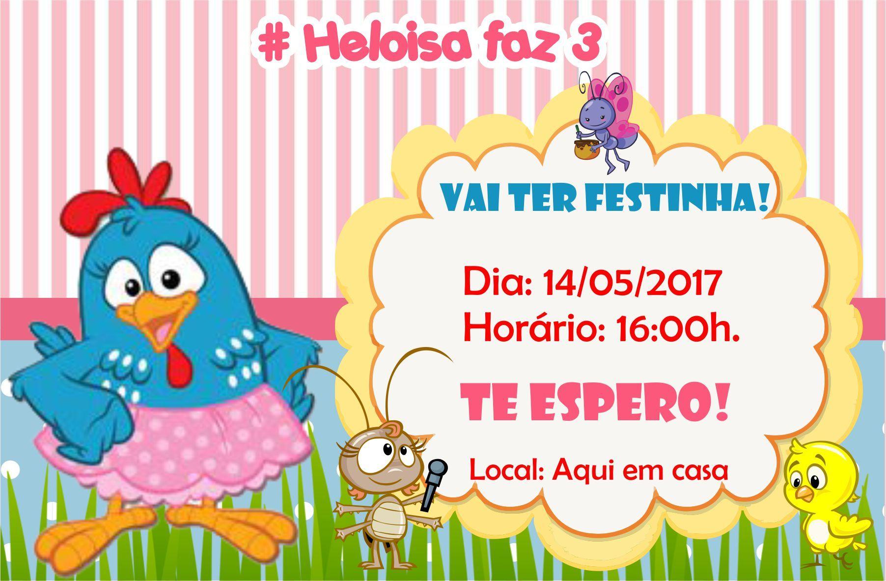 Imagem relacionada Galinha pintadinha Convite galinha