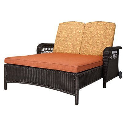 Superb Madaga Wicker Patio Double Chaise Lounge