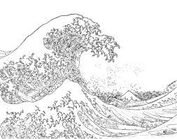 Sun And Waves Coloring Page Summer Coloring Pages Cool Coloring