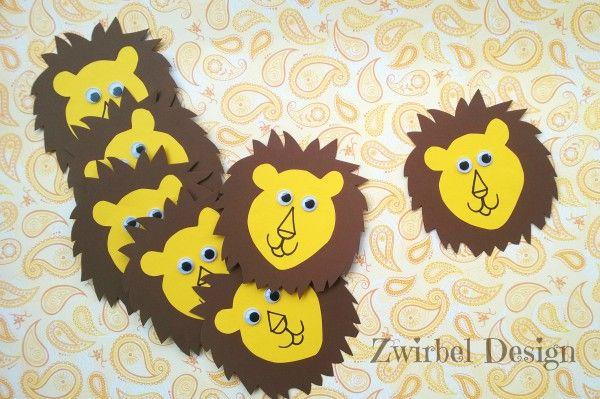 DIY Einladungskarte Löwe zum Geburtstag