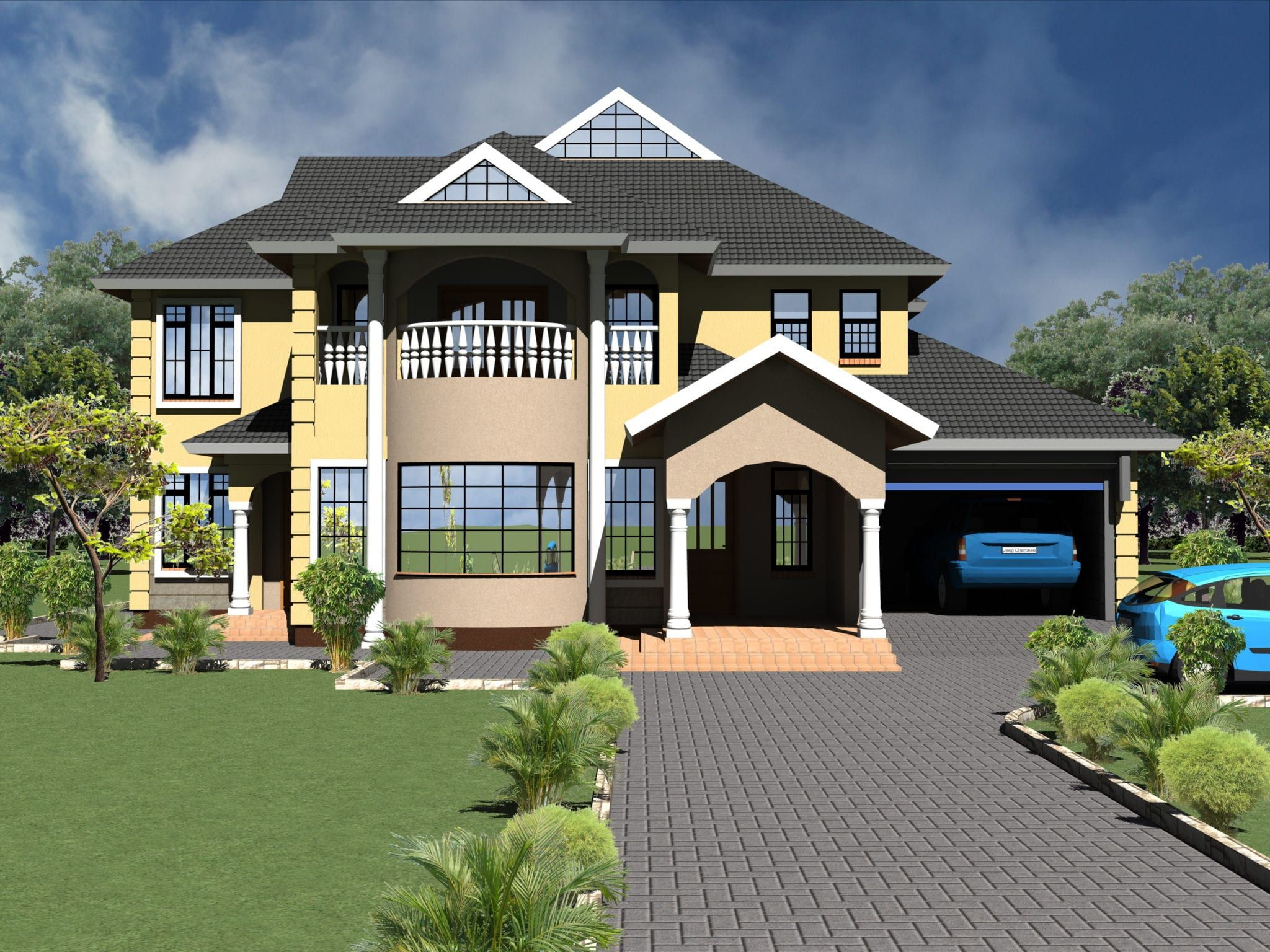 Four Bedroom Storey House Plans