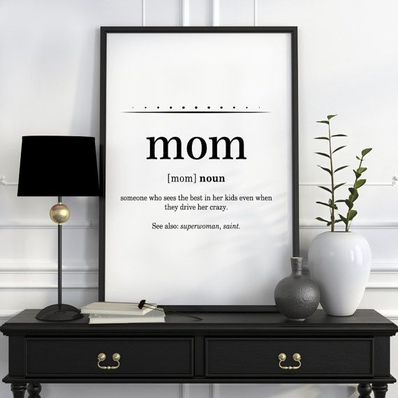 Quot Definition Prepossessing Mom Wall Art Funny Mom Gifts Mothers Day Gifts Mom Birthday