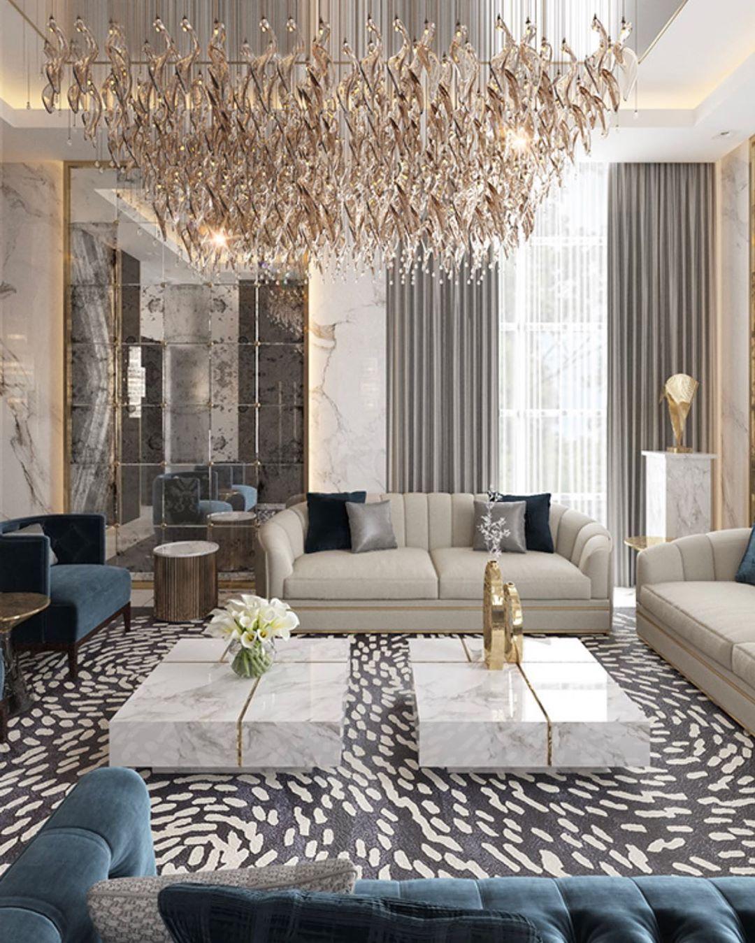 Mi Piace 1 964 Commenti 13 T H I Interiors Thehauteinteriors Su Instagram Thi Living Room Design Decor Luxury Living Room Luxury Living Room Decor Living room ideas luxury