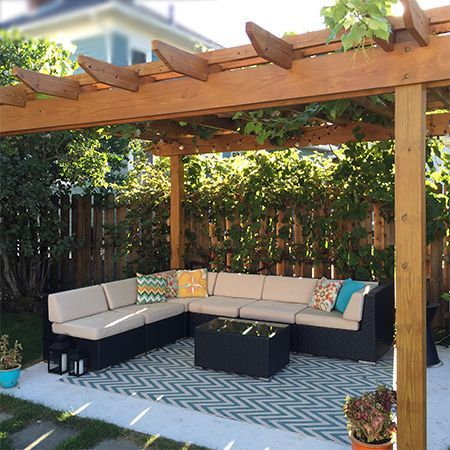 Use pressure treated lumber to make your own pergola for a shady spot to  sit and relax outdoors. Add accessories to make this a comfortable  extension of ... - Use Pressure Treated Lumber To Make Your Own Pergola For A Shady