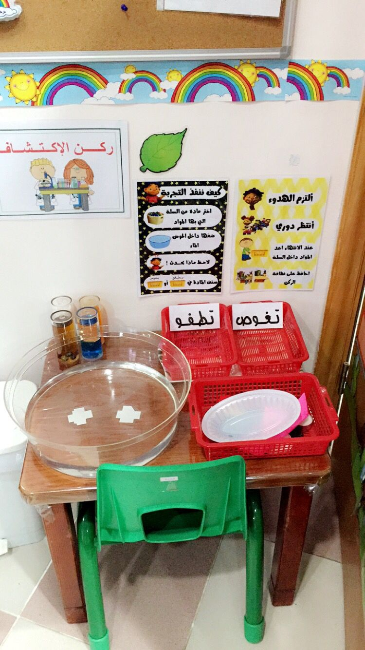 درس الطفو و الغوص Kg2 Science Experiments For Preschoolers Kids Classroom Arabic Alphabet For Kids