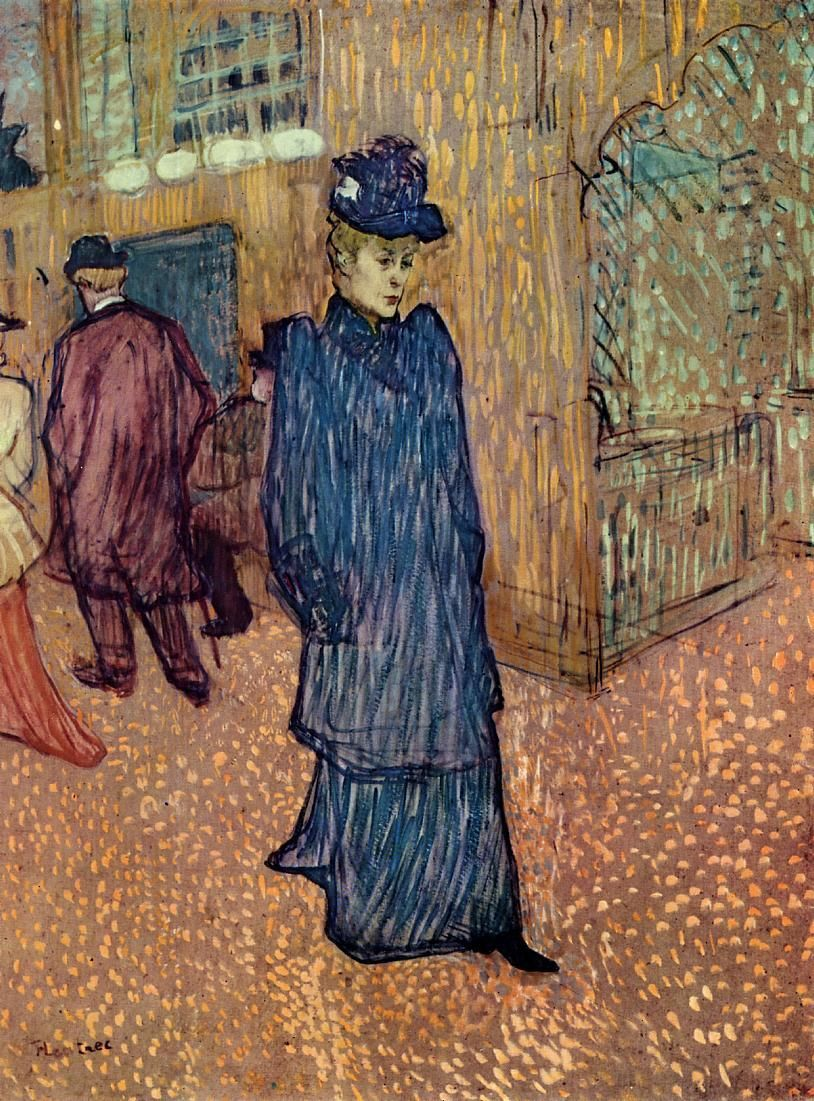 This Is One Of My All Time Favorite Paintings Jane Avril Leaving The Moulin Rouge Henri De Toulouse Henri De Toulouse Lautrec Künstlerbedarf Impressionismus