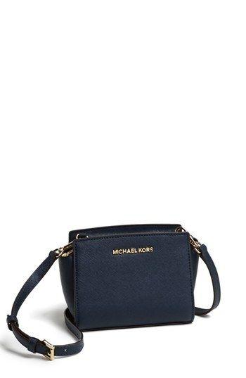 MICHAEL Michael Kors  Selma - Mini  Saffiano Leather Messenger Bag  available at  Nordstrom fde03605db5