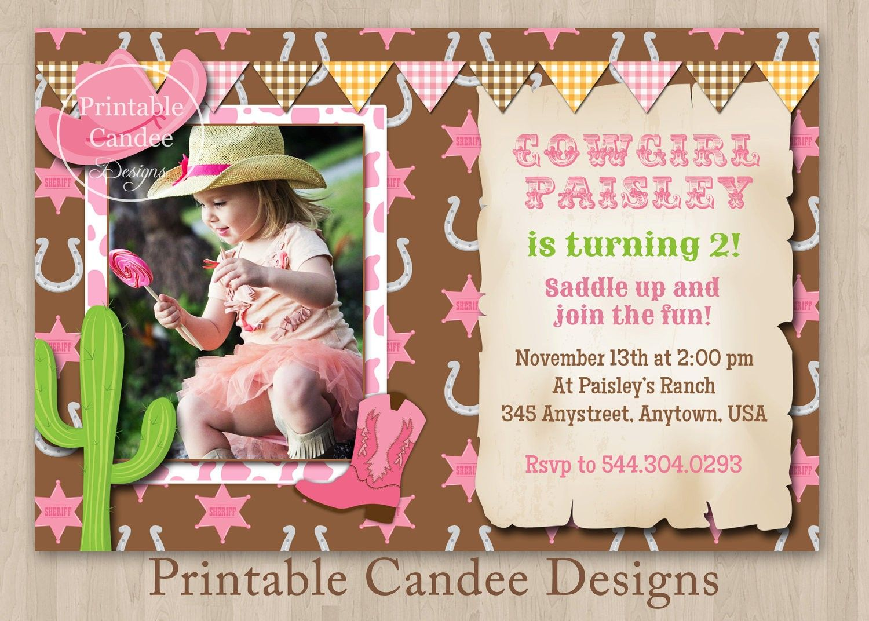 Free Cowgirl Invitation Template | Cowgirl Birthday Invitations Free ...